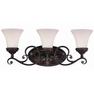 Avenant 3-Light Bathroom Light in Traditional Style 10.5 Inches Tall and 23 Inches Wide