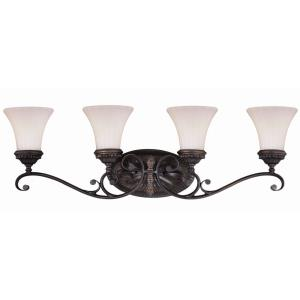 Avenant 4-Light Bathroom Light in Traditional Style 10.5 Inches Tall and 33.5 Inches Wide