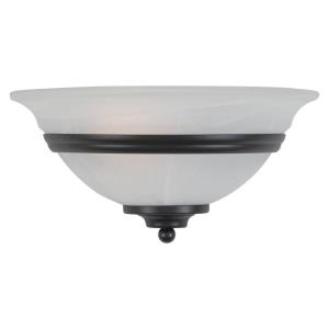 Da Vinci 1-Light Wall Sconce in Transitional and Half Moon Style 6 Inches Tall and 12 Inches Wide