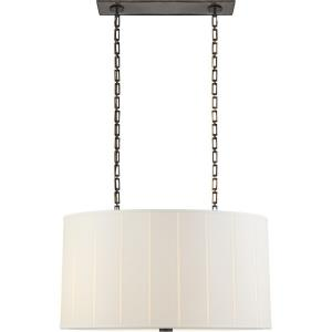 Perfect Pleat - 4 Light Oval Hanging Shade Pendant