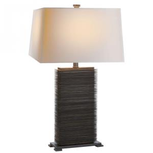 Convector - One Light Rectangular Table Lamp