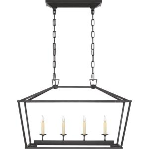 Darlana - 4 Light Outdoor Small Linear Hanging Lantern