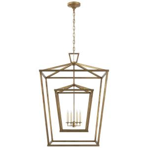 Darlana - 4 Light Extra Large Double Cage Hanging Lantern