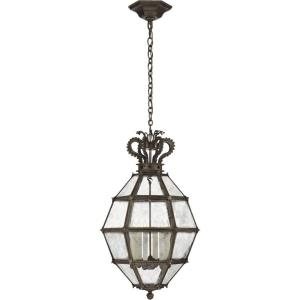 Venezia - 6 Light Outdoor Medium Faceted Scroll-Top Hanging Lantern