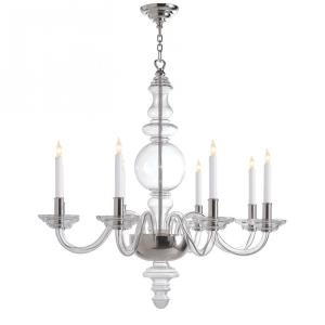 George - Eight Light Grande Round Chandelier