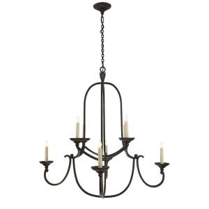 Flemish - 8 Light Medium Round Chandelier