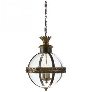 Crown Top - 3 Light Banded Globe Hanging Lantern