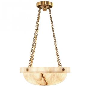Fluted Band - Two Light Medium Chandelier