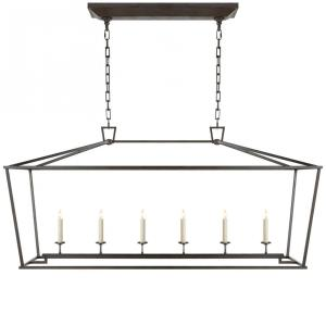 Darlana - 6 Light Outdoor Large Linear Hanging Lantern