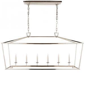 Darlana - 6 Light Outdoor Large Linear Hanging Lantern