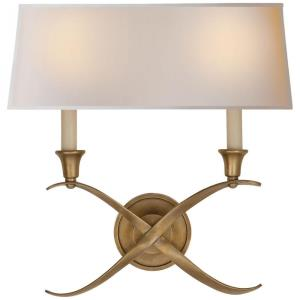 Cross Bouillotte - Two Light Large Wall Sconce