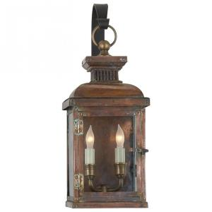 Suffork - 2 Light Small Scroll Arm Wall Lantern