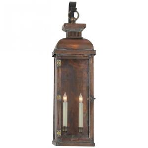 Suffork - 2 Light Tall Scroll Arm Wall Lantern