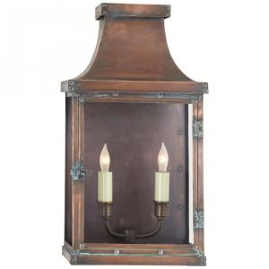 Bedford - 2 Light Wide Short Wall Lantern