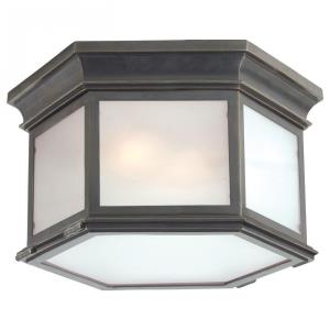Club - 3 Light Large Hexagonal Flush Mount