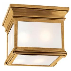 Club - 3 Light Small Square Flush Mount