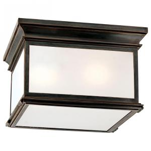 Club - 3 Light Large Square Flush Mount