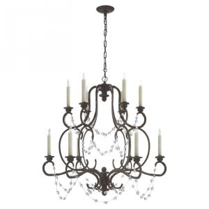 Lombardy - 12 Light 2-Tier Chandelier