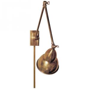 French Library - 1 Light Double Arm Wall Sconce