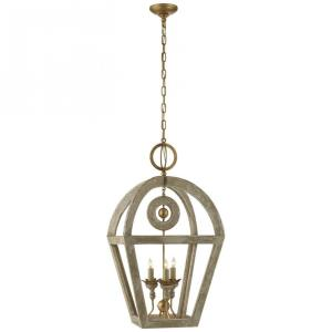 Nina - 3 Light Wooden Lantern