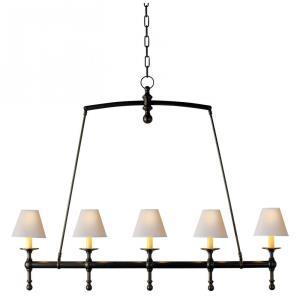 Classic - 5 Light Linear Chandelier