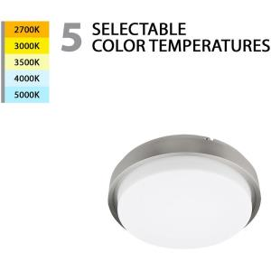 Lithium-15W 1 LED Round Flush Mount in Transitional Style-11.89 Inches Wide by 3.96 Inches High
