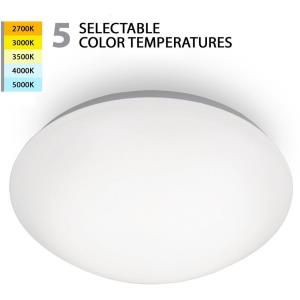Glo-15W 1 LED Flush Mount in Functional Style-11.75 Inches Wide by 3.5 Inches High