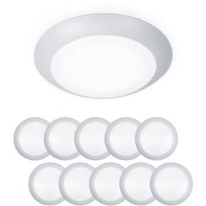 Disc - 5.9 Inch 12W 3000K 1 LED Flush Mount & Retrofit Kit (Pack of 10)