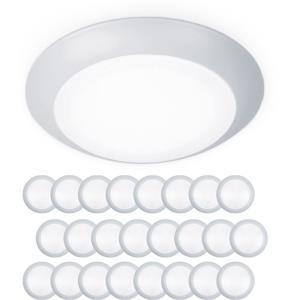 Disc - 7.4 Inch 15W 3000K 1 LED Flush Mount & Retrofit Kit (Pack of 24)