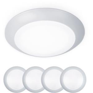 Disc - 7.4 Inch 15W 3000K 1 LED Flush Mount & Retrofit Kit (Pack of 4)