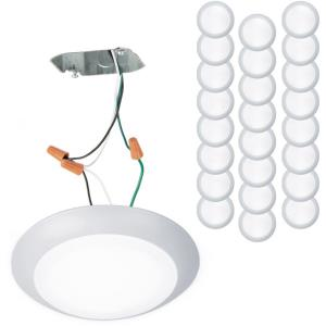 Disc - 7.4 Inch 15W 3000K 1 LED Flush Mount (Pack of 24)