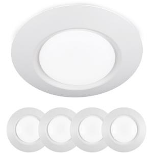 I Can't Believe It's Not Recessed - 7.5 Inch 16W 3000K 1 LED Flush Mount (Set of 4)