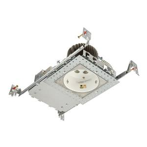 LEDme - 4 Inch 16W 3000K 1 LED New Construction Housing with Light Engine Square Invisible Trim
