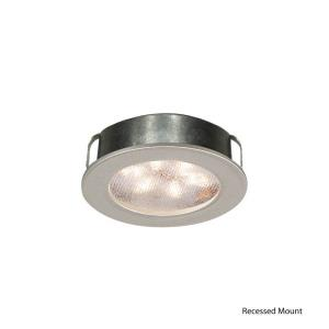"Ledme - 2"" 4.8W 2700K 1 LED Round Recessed/Surface Mount Button Light"