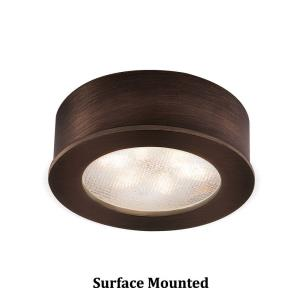Ledme-4.8W 2700K 1 LED Round Recessed/Surface Mount Button Light-2.25 Inches Wide by 2.25 Inches High