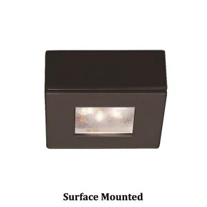 Ledme-4.8W 2700K 1 LED Square Recessed/Surface Mount Button Light-2.25 Inches Wide by 2.25 Inches High