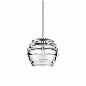 Clarity-One Light Pendant with Monopoint Canopy-6 Inches Wide by 5.38 Inches High