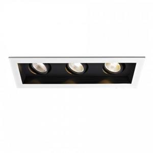 12.75 Inch 33W 3000K 90 CRI 3 LED Narrow Flood New Construction Housing