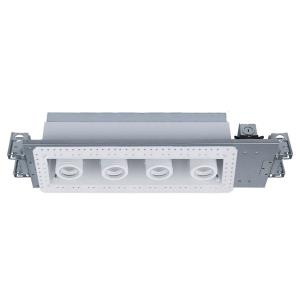 "Silo Multiples - 27.88"" 40W 3000K 4 LED New Construction IC-Rated Airtight Housing with Light Engine and Invisible Trim"