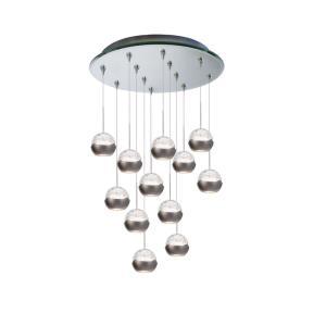 Genesis - Twelve Light Pendant with Mirrored Canopy