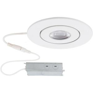 Lotos-6W 1 LED Round Adjustable Recessed Kit in Functional Style-3.5 Inches Wide by 1.63 Inches High