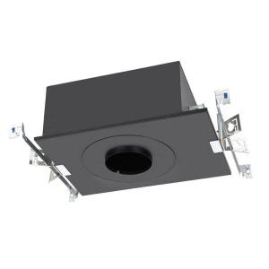 """Volta - 17.69"""" 15W 1 LED Recessed Chicago Plenum Housing for Round Trim with Emergency Backup Battery"""