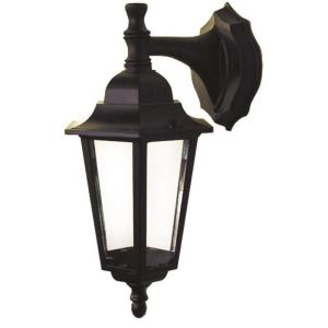 Lucas Eight-Inch One-Light Outdoor Light, Black with Clear Glass