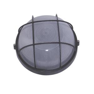 Caleb Six-Inch One-Light Outdoor Light, Black with White Glass