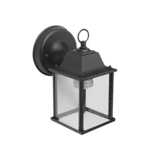 Avery Five-Inch One-Light Outdoor Light, Black with Clear Glass