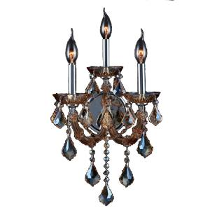 Lyre - Three Light 2-Tier Medium Candle Wall Sconce