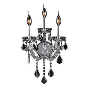 Lyre - Three Light 2-Tier Medium Candle Wall Sconce