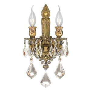 """Versailles - 13"""" Two Light Medium Candle Wall Sconce"""