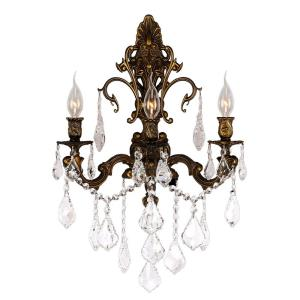 "Versailles - 17"" Three Light Large Candle Wall Sconce"