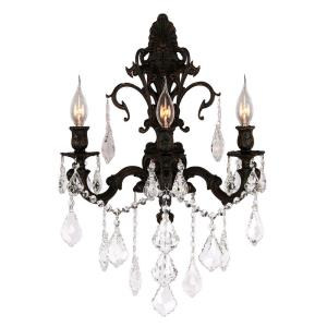"""Versailles - 17"""" Three Light Large Candle Wall Sconce"""